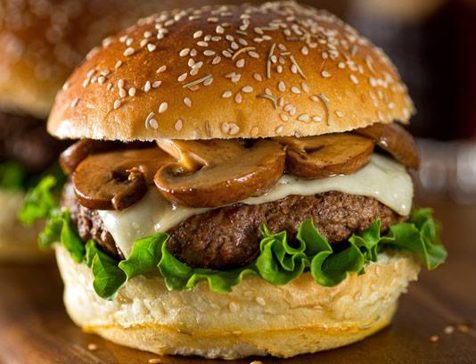 عکس با کیفیت ساندویچ قارچ برگر