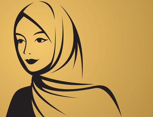 وکتور حجاب و پوشش اسلامی