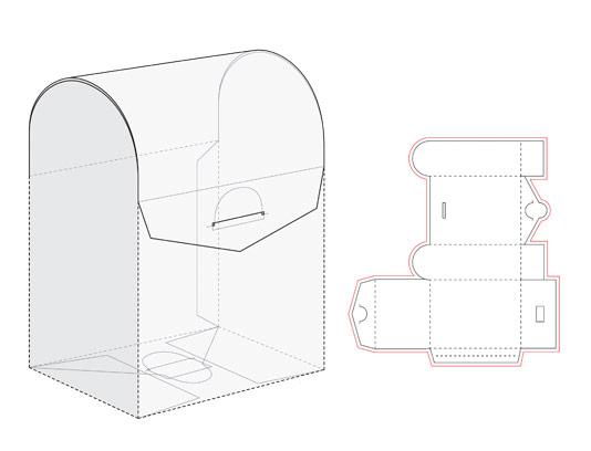 وکتور بسته بندی جعبه کیفی به همراه نقشه صفحه گسترده