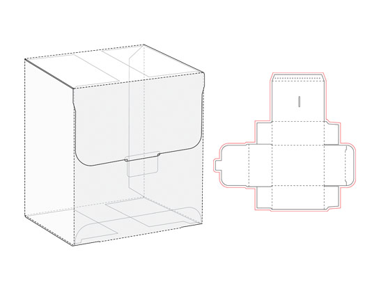 وکتور بسته بندی مکعب مستطیل به همراه طرح صفحه گسترده