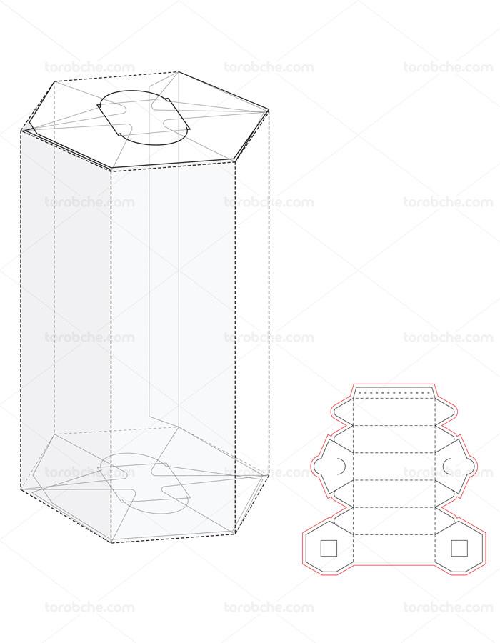 وکتور طرح بسته بندی و صفحه گسترده استوانه ای