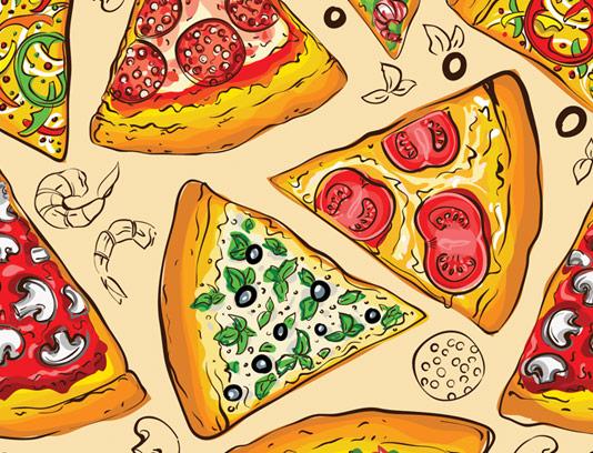 وکتور پترن پیتزا