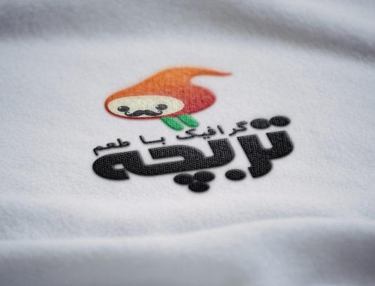 طرح لایه باز موکاپ لوگوی دوخته شده به پارچه سفید