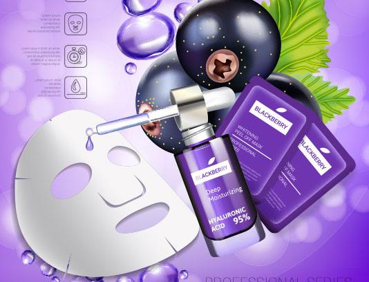 وکتور لایه باز طرح پوستر تبلیغاتی ماسک سفید کننده پوست