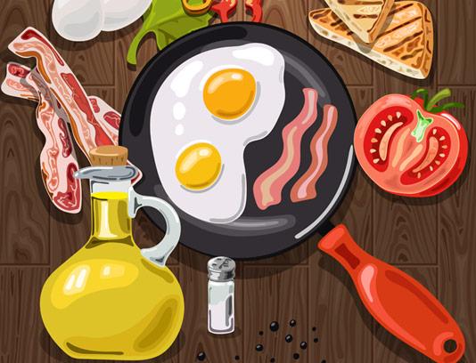 وکتور صبحانه آمریکایی با کیفیت عالی