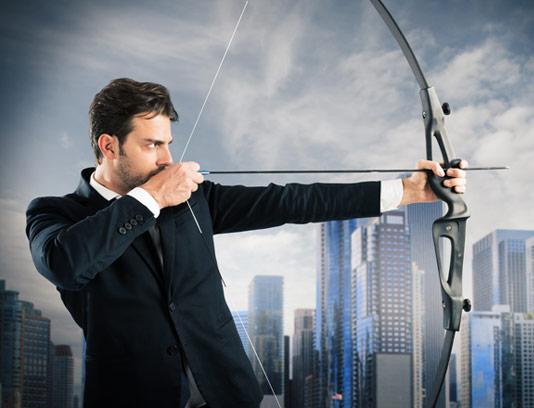 تصویر با کیفیت کسب و کار مفهومی نشانه گیری هدف