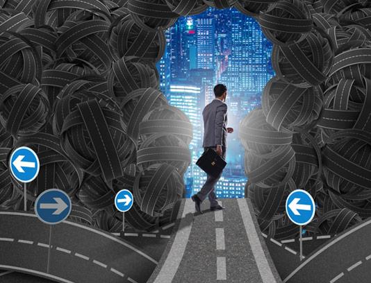 عکس با کیفیت کسب و کار مفهومی سردرگمی در انتخاب مسیر