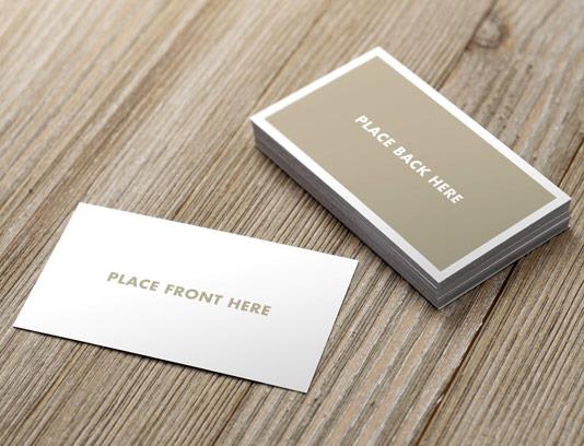 طرح موکاپ کارت ویزیت دو طرفه لایه باز شماره ۰۱
