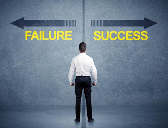 عکس با کیفیت کسب و کار مفهومی انتخاب موفقیت و شکست