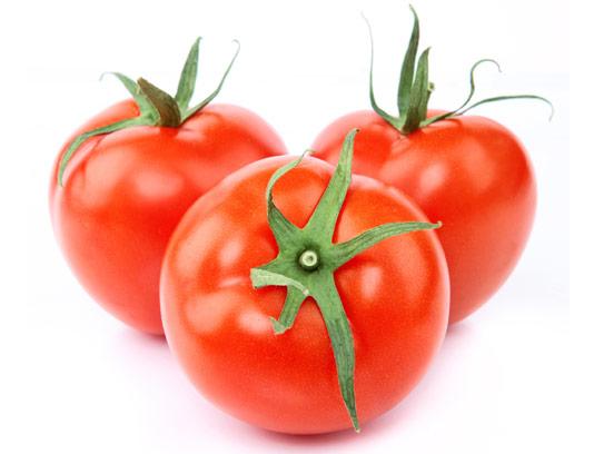 عکس با کیفیت گوجه فرنگی تازه ی قرمز