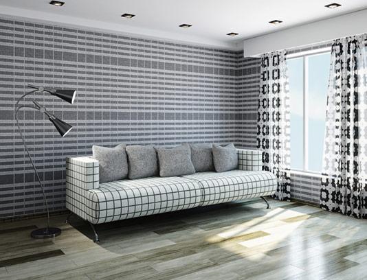 عکس طراحی داخلی منزل با ست خاکستری