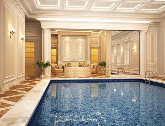 عکس طراحی داخلی استخر با کیفیت عالی