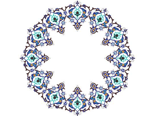 وکتور طرح کاشی کاری اسلامی شماره ۳۶