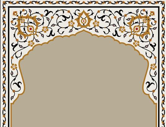 وکتور طرح کاشی کاری اسلامی شماره ۳۷