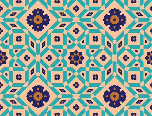 وکتور طرح کاشی کاری اسلامی شماره 38