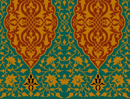 وکتور طرح کاشی کاری اسلامی شماره ۴۰