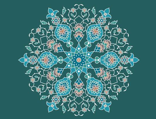وکتور طرح کاشی کاری اسلامی شماره 41