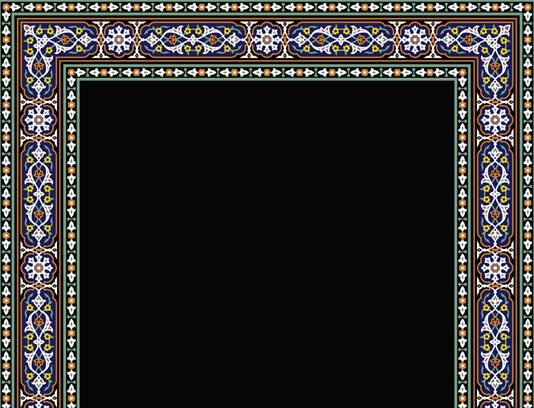 وکتور طرح کاشی کاری اسلامی شماره ۴۲