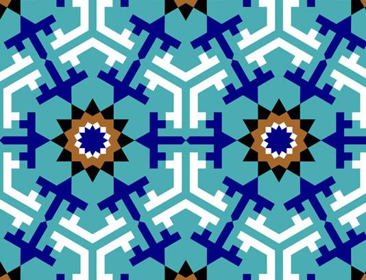 وکتور طرح کاشی کاری اسلامی شماره ۴۶