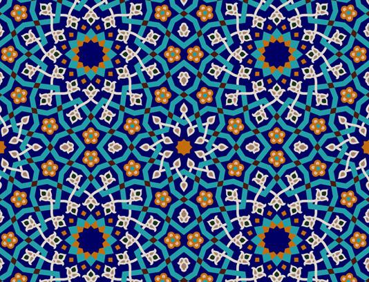 وکتور طرح کاشی کاری اسلامی شماره ۴۷