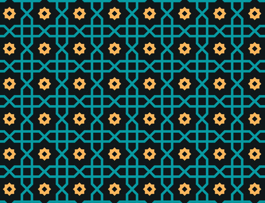 وکتور طرح کاشی کاری اسلامی شماره ۴۹