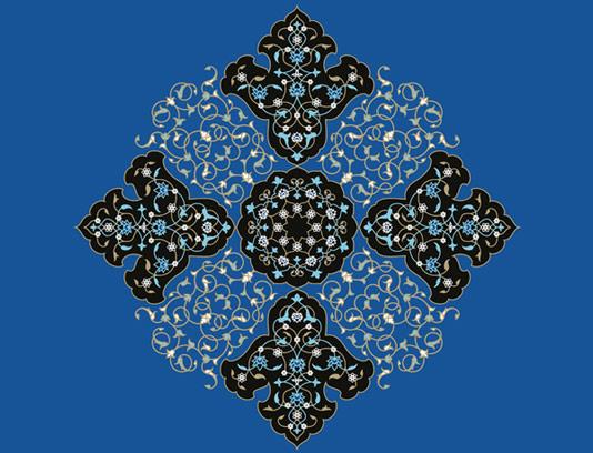 وکتور طرح کاشی کاری اسلامی شماره 50