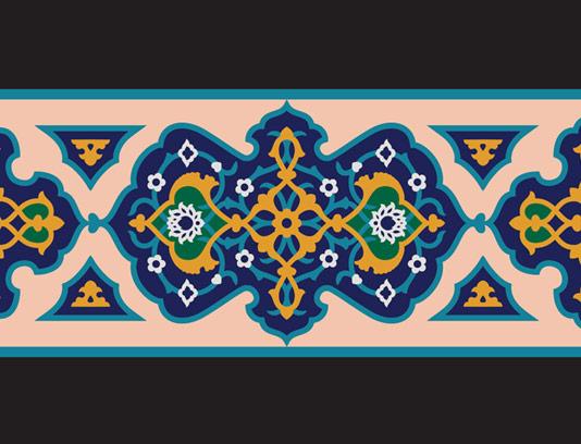 وکتور طرح کاشی کاری اسلامی شماره ۵۱
