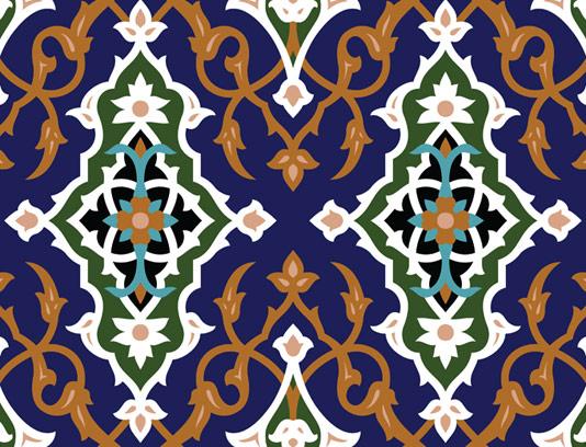 وکتور طرح کاشی کاری اسلامی شماره 53