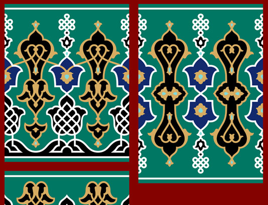 وکتور طرح کاشی کاری اسلامی شماره 54