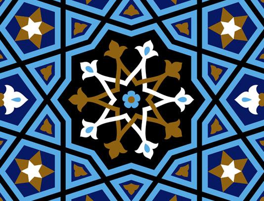 وکتور طرح کاشی کاری اسلامی شماره ۵۷