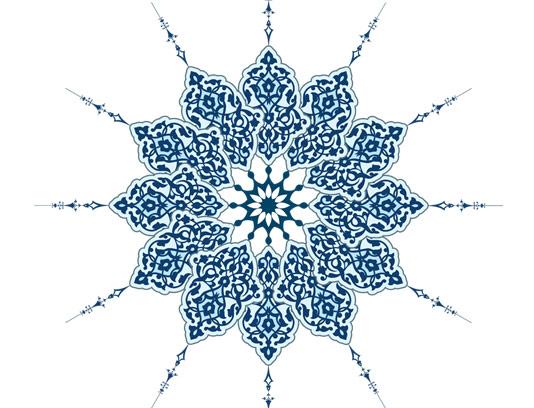 وکتور طرح کاشی کاری اسلامی شماره ۵۸