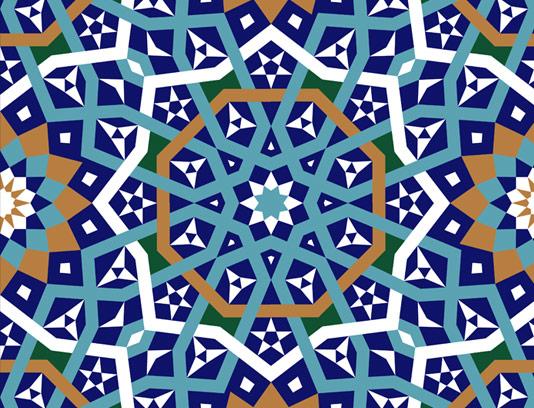 وکتور طرح کاشی کاری اسلامی شماره ۵۹