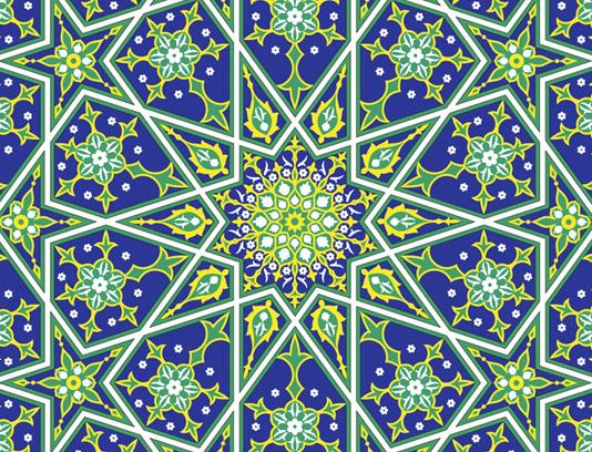 وکتور طرح کاشی کاری اسلامی شماره ۶۰