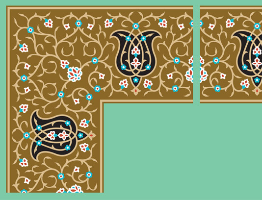 وکتور طرح کاشی کاری اسلامی شماره ۶۱