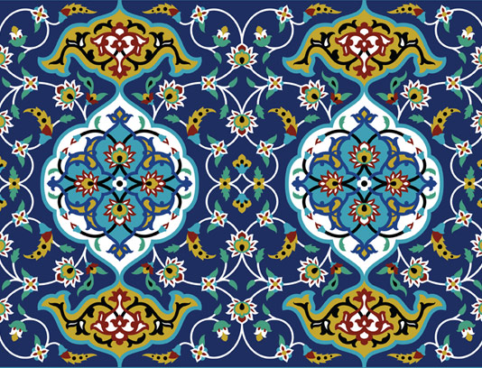 وکتور طرح کاشی کاری اسلامی شماره ۶۲