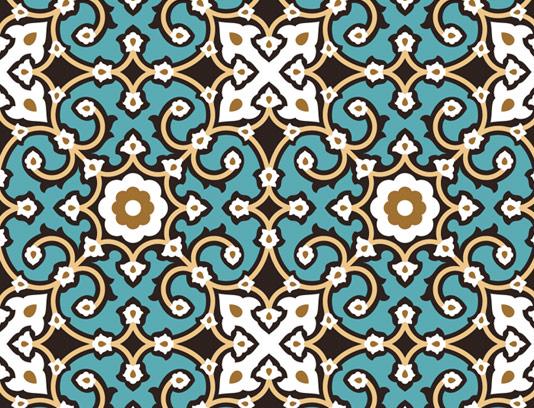 وکتور طرح کاشی کاری اسلامی شماره ۶۴