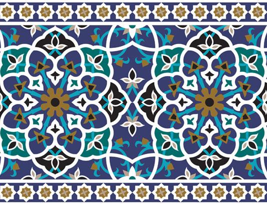 وکتور طرح کاشی کاری اسلامی شماره ۶۵