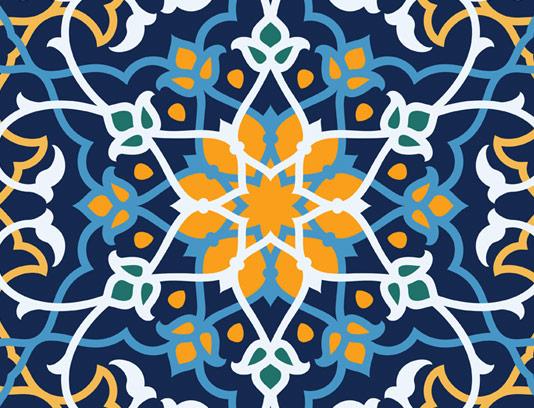 وکتور طرح کاشی کاری اسلامی شماره ۶۶