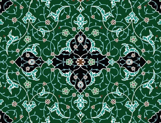 وکتور طرح کاشی کاری اسلامی شماره 67
