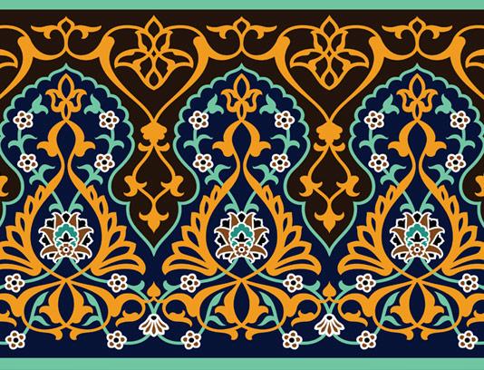 وکتور طرح کاشی کاری اسلامی شماره ۶۸