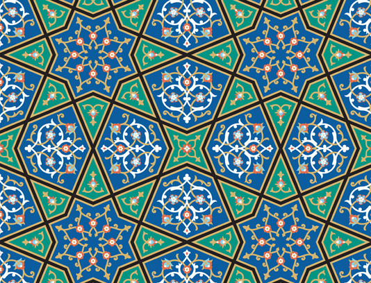وکتور طرح کاشی کاری اسلامی شماره ۶۹