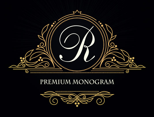 وکتور طرح لوگوی مونوگرام لاکچری شماره ۰۶