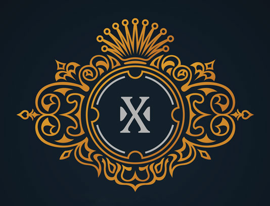 وکتور طرح لوگوی مونوگرام لاکچری شماره ۰۷