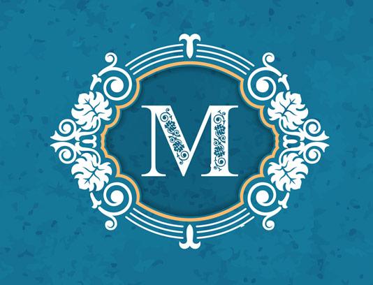وکتور طرح لوگوی مونوگرام لاکچری شماره ۰۸