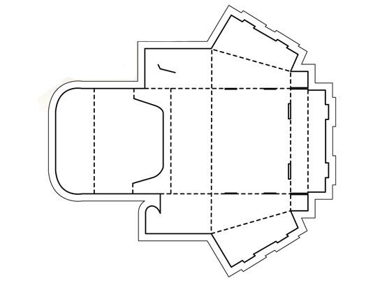 وکتور بسته بندی و طرح صفحه گسترده ی جعبه فروش محصول