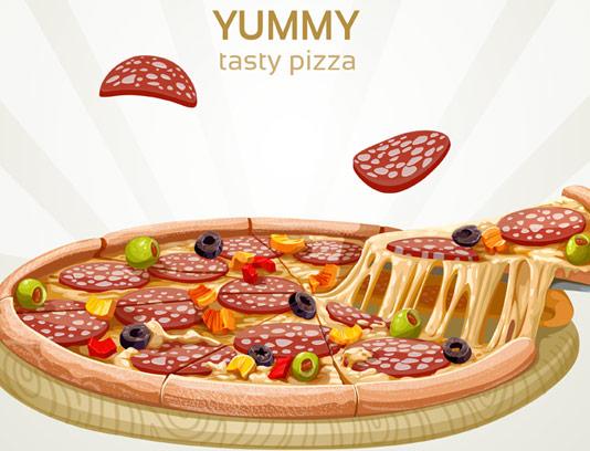 وکتور با کیفیت پیتزای پپرونی