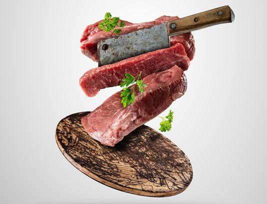 عکس با کیفیت گوشت تازه ی برش خورده