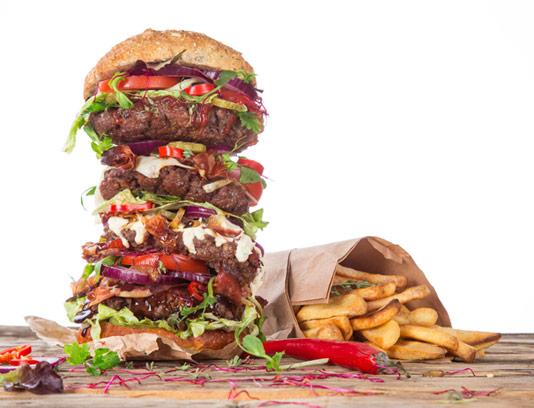 عکس ساندویچ همبرگر گوشت بزرگ ویژه