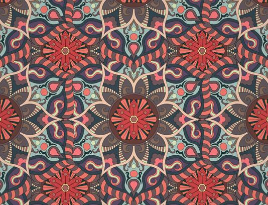 وکتور طرح پترن و الگوهای سنتی شماره ۰۱