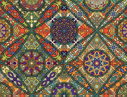 وکتور طرح پترن و الگوهای سنتی شماره ۰۲